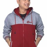 jual Sweater Pria Fleece Jaket Zipper Hoodie Varsity Distro Bandung B
