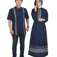 promo Baju Busana Muslim Couple Pasangan Sarimbit Warna Biru