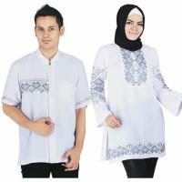 promo Baju Muslim pasangan Couple Warna Putih