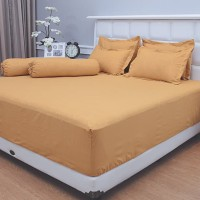 Sprei set polos emboss  golden  160x200 tinggi 30 Vallery quincy