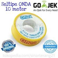 Seltip Air ONDA 10M Seal Tape Isolatip Isolasi Drat Pipa Kran Air PTFE