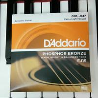 senar gitar EJ15 phosphor bronze D'addario guitar strings