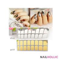 1pc metallic nail sticker / stiker kuku metalik silver / gold