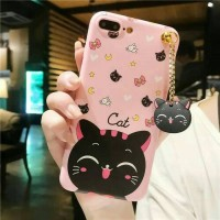 CASE HP OPPO A83 SOFTCASE ALOHA /BLACK CAT