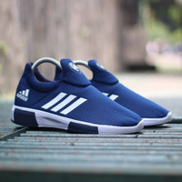 5ec7f6190 Adidas NMD Slop Slip On Navy   Biru Sepatu Pria Wanita Jalan-jalan