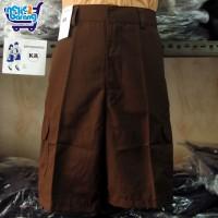 Celana Pendek Seragam SD Coklat PDL - Seragam Pramuka - Sontog SD