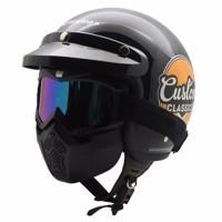 Auto Motor Helm Cargloss Retro Custom Classic Plus Google mask Deep B