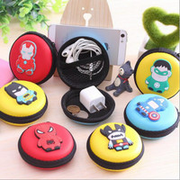 Case Mini Tempat Earphone dompet koin tempat headset superhero unik