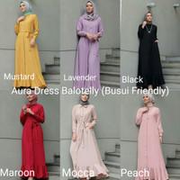 Gamis Muslimah / Dress Muslimah / Baju Wanita Aura Dress