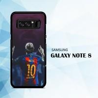Casing Samsung Galaxy Note 8 Lionel Messi 10 Barcelona L2353