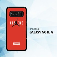 Casing Samsung Galaxy Note 8 Supreme x Jordan Red X5934