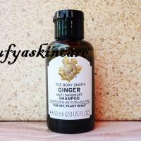 The Body Shop Ginger Anti Dandruff Shampoo / Sampo 60 ml Travel Size