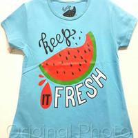 Kaos karakter anak perempuan oshkosh semangka 7-10