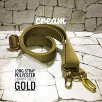 Long Strap Tali Tas Siap Pakai Polyester Halus 25mm aksesoris GOLD