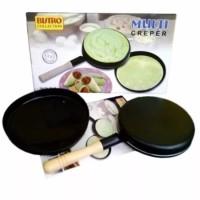 Bistro creper pan / wajan kwalik pembuat kulit lumpia dan crepes