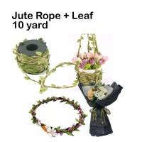 Jute Rope+Leaf - Goni - Tali - Pita - Craft - Art - Flower Crown-goni