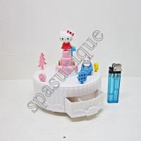 MUSIC BOX CAKE HELLO KITTY PUTIH