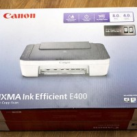 Printer Canon Pixma E400 Inkjet White Grey Multifungsi Parto Printer
