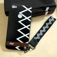 Softcase TPU Tali Black Off White Cover Case Casing HP Samsung J7 Plus