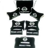 murah Nissan Grand Livina Bantal aksesoris mobil Hitam list putih