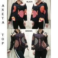 a2e284a86 PROMO ANETA TOP - Atasan Batik Blouse Batik Modern Wanita Cheongsam