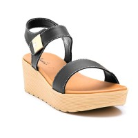 CARVIL SANDAL CASUAL LADIES LIBRA 01 L BLACK