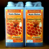 Madu Hutan Kalimantan Plus Bee Pollen dan Royal  Jelly Ukuran 1 Kg