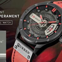 Jam Tangan Jam Tangan Curren Type 8301 Black Red Original