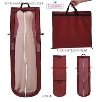 Harga tas pelindung baju pesta maron p155cm l cover gaun pengantin | antitipu.com