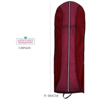 Harga tas pelindung baju pesta maron p180cm l cover gaun pengantin | antitipu.com
