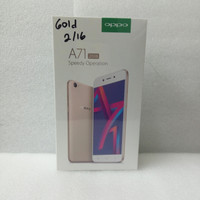 Handphone oppo A71 ram 2/16 GB color gold oppo smartphone type CPH1801