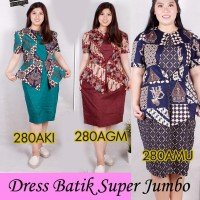 Jual Dress Batik Super Jumbo Bigsize Baju Atasan Wanita Big Size 280 vol 4 Murah