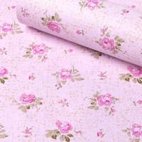 wallpaper stiker uk 45cmx10m kode no 1174 bunga pink dasar pink