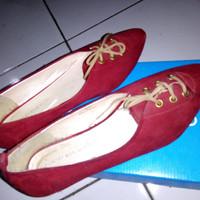 flat shoes yongki komaladi merah size 39