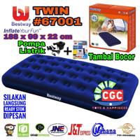 Paket Bestway 67001 Kasur Angin Twin + Pompa Listrik SNI