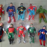 Boneka Karakter Superhero Superman Spiderman Captain America Avengers