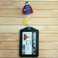 idcard holder name tag lanyard lego superman