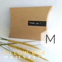 [PILLOW BOX MEDIUM: 18x23.5x5 cm] dus / box / kemasan / paperbox