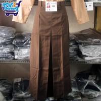 Rok Panjang Span SMA Coklat - Seragam SMA - Rok Seragam Pramuka