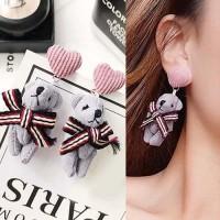 IMPORT Anting Tusuk Beruang Lucu Ikatan Simpul Hati Earrings 02FC7Br-C