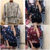 AP96 blouse birdie swan atasan wanita model kimono katun import