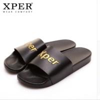 Harga original xper brand new men slippers shoes summer sandal pria   antitipu.com