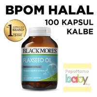 Jual Blackmores Flaxseed Oil 100 Kapsul BPOM HALAL KALBE Vit Jantung Kanker Murah