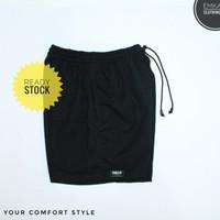celana gym/ celana boxer/ celana pantai/ celana olahraga _ black
