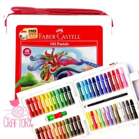 Faber Castell Hexagonal Oil Pastel Crayon 48 Colours Warna