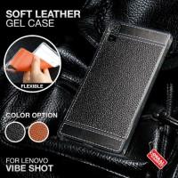 Softcase TPU PU Leather Slim Cover Case Casing HP Lenovo Vibe Shot Z90