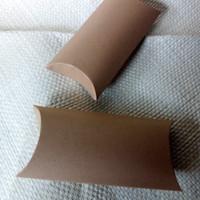 PILLOW BOX/KOTAK KADO BROWN KRAFT 280 gr, ukuran 21 X 11,5 X 4Cm
