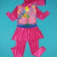 baju renang muslim anak cewek perempuan TK little pony litel poni