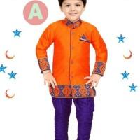 FK 38A Baju Koko Anak Kecil India Pakistan Lebaran Import Orange