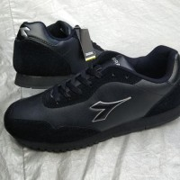 TERMURAH Asli DIADORA ORIGINAL. C0RTEZ Black. Sepatu Olahraga Sekolah